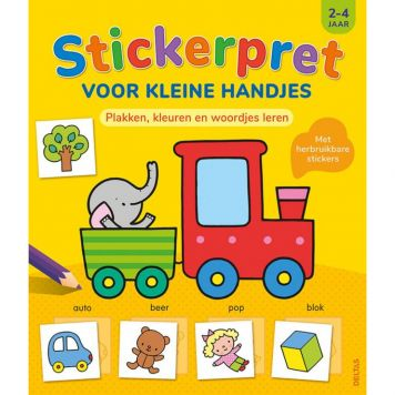 Boek Stickerpret Kleine Handjes