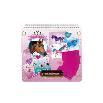 Dreamhorse Kleur- en Stencilboek 26x25cm