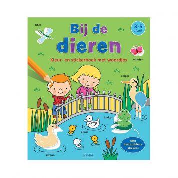Boek Kleur-Stickerboek Bij De Dieren