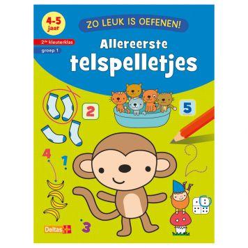 Boek Zo Leuk Is Oefenen - Allereerste Telspelletjes (4-5 Jaar)
