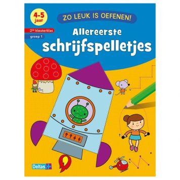 Boek Zo Leuk Is Oefenen - Allereerste  Schrijfspelletjes (4-5 Jaar)