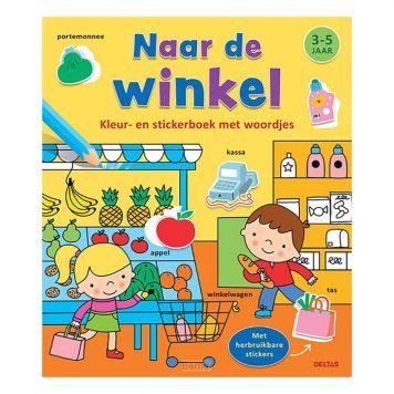 Boek Kleur-Stickerboek Naar De Winkel