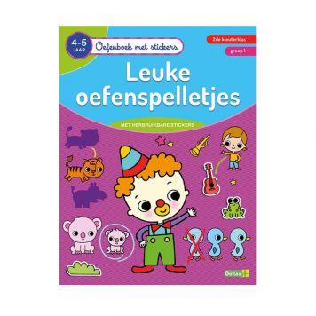Oefenboek Stickers Oefenspel 4-5 Jaar