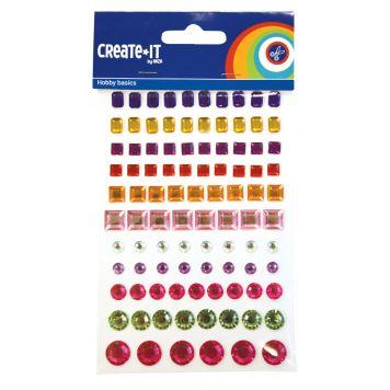 Create-It Glitterkarton A4 4 Kleuren