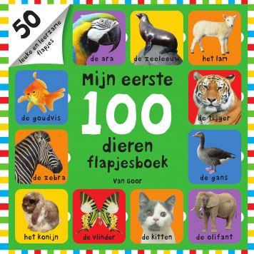 Boek Mijn Eerste 100 Dieren Flapjesboek