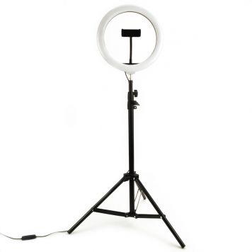 Selfie Ringlamp 20 Cm Met Statief 150Cm