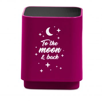 Speaker Bluetooth Led To The Moon & Back Pink