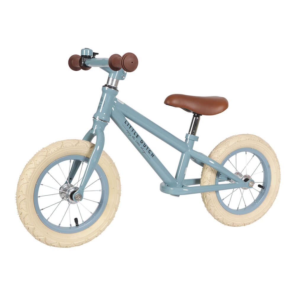 Little Dutch Loopfiets Blauw Bruin