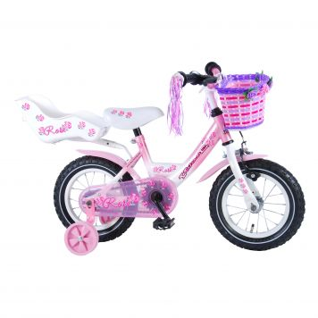 Fiets Rose 12 Inch Met Poppendrager