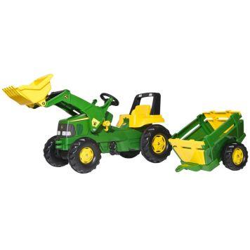 Tractor JD Met Lader En Aanhanger