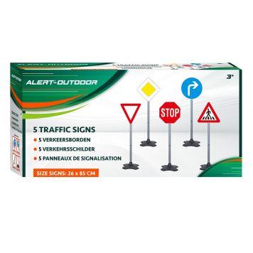 Verkeersbordenset 5 Delig Alert