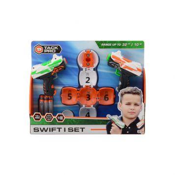 Tack Pro Swift I set met 12 Darts 11 cm en target ball