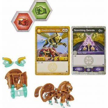 Bakugan  Ultra with BakuGear  Season 2.5   Sphinx En Salamander Gold White