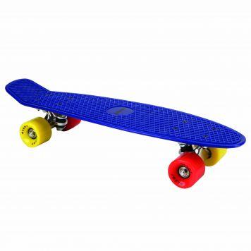 Alert Outdoor Skateboard 55 cm Neon Blauw