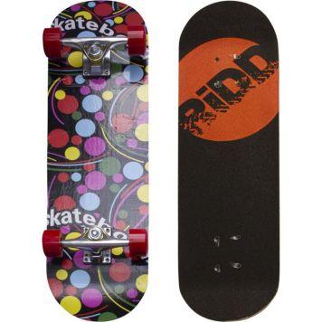 Skateboard Gekleurde Stippen 70cm