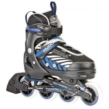 Inline Skate 33-36 Zwart/Blauw Hudora