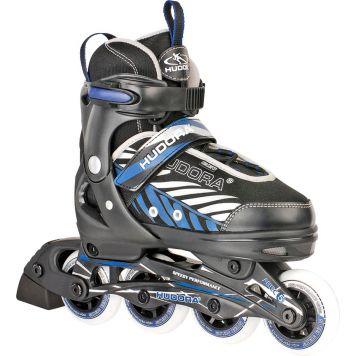 Inline Skate 37-40 Zwart/Blauw Hudora