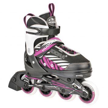 Inline Skate 33-36 Zwart/Lila Hudora