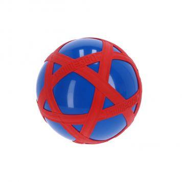Blauwe Crossbal met Rode Rubberband