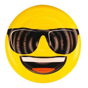 Opblaasbaar Luchtbed Figuur Emoji Face Cool