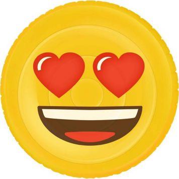Opblaasbaar Luchtbed Figuur Emoji Face Heart