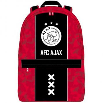 Rugzak Ajax Klein Rood Zwart Logo 28x21x11Cm