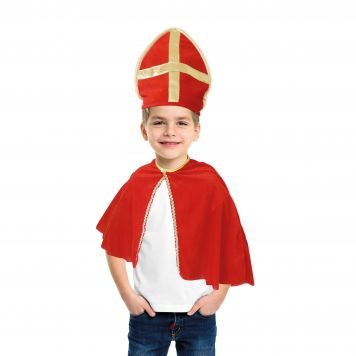 Verkleedset Sinterklaas Cape Met Mijter 1 Maat