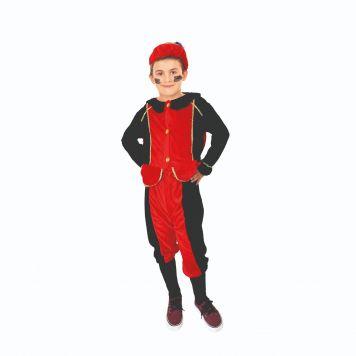Verkleedset Pietenpak Rood-Zwart 5-7 Jaar