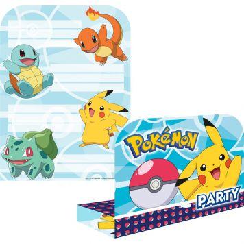 Pokemon Uitnodigingen 8st