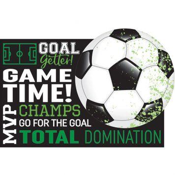 Goal Voetbal Uitnodigingen 8st