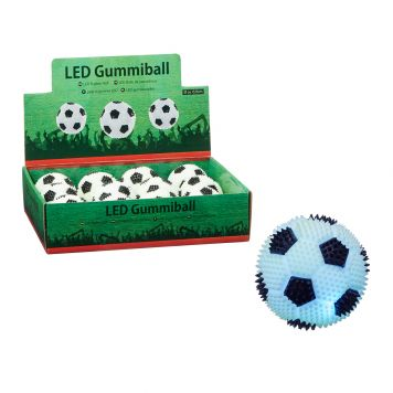 Bal Led Licht Voetbal 6,5 Cm 4 Assorti