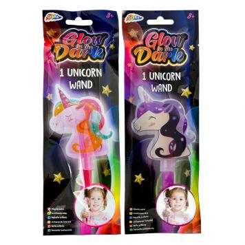 Unicorn Glow In The Dark Staf 2 Assorti