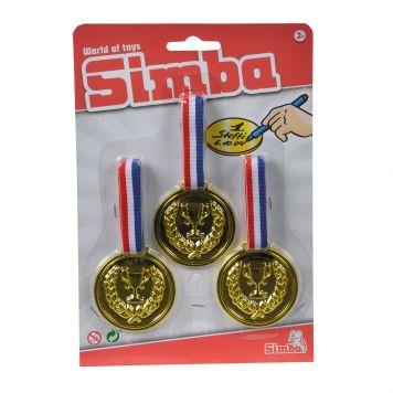 Medailles 3 Maal Goud 6Cm