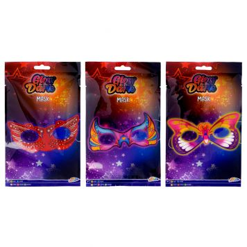 Glow In The Dark Masker 3 Assorti