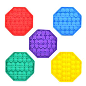 Stress Pop'n Play Fidget Hexagon Assorti