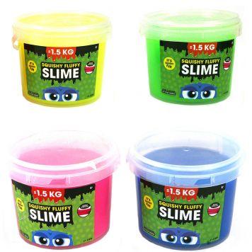 Slime In Emmer +/- 1,5 Kilo 4 Assorti