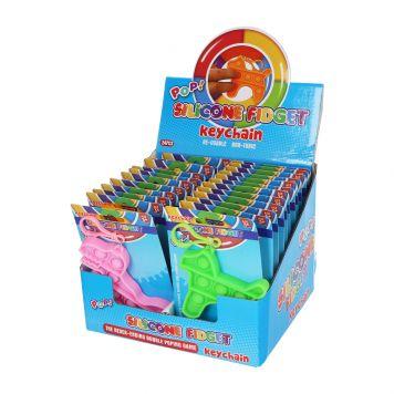 Sleutelhanger Stress Pop'N Play Dino En Hond