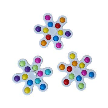 Fidget Pop It Spinner 12 Pops Assorti