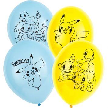 Pokemon Ballonnen 28cm 6st