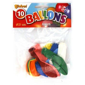 Ballon Kleuren 10 Stuks 21 Cm Assorti