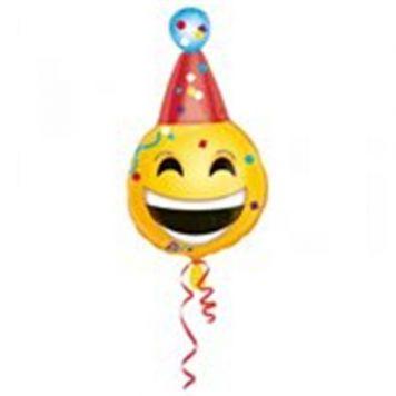 Ballon Folie Junior Emoticon Jarig 35X63 CM