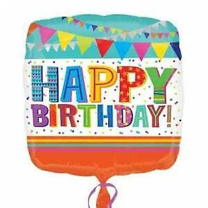 Ballon Folie Standaard Happy Birthday 43 CM