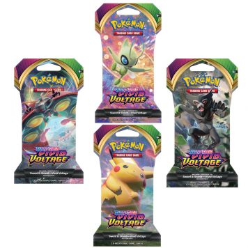 Pokémon TCG Sword En Shield Vivid Voltage Sleeved  Booster