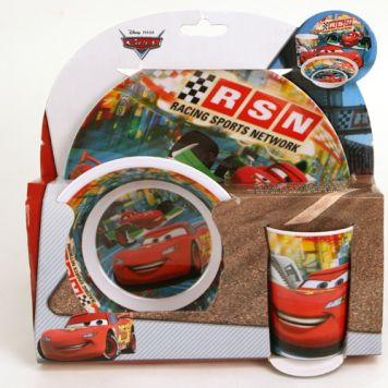 Cars Melamine Set 3-Delig