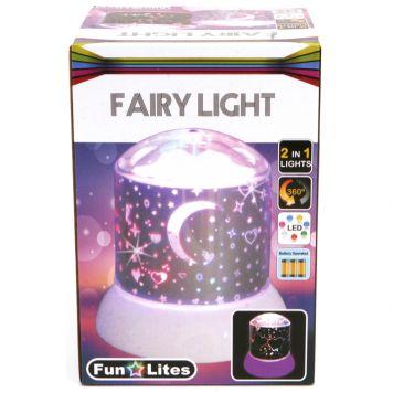 Disco Nachtlamp Galaxy Wit