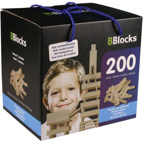 BOUWPLANKJES BBLOCKS IN DOOS 200 STUKS