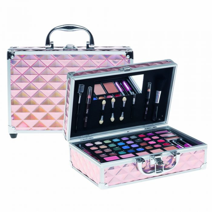Casuelle Make-up Koffer Roze Holografisch