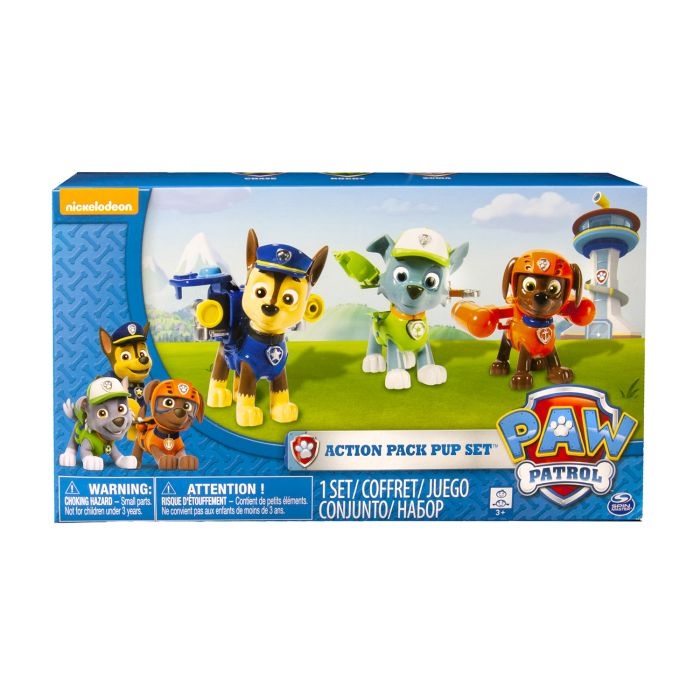 Paw Patrol Action Pack 3 Pack Rocky, Zuma, Chase