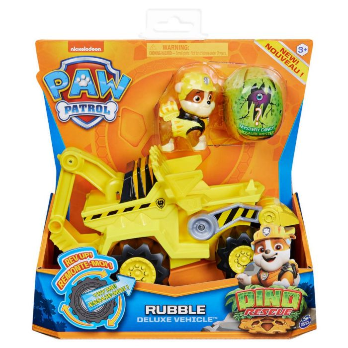 Paw Patrol Dino De Luxe Themed Vehicle Rubble