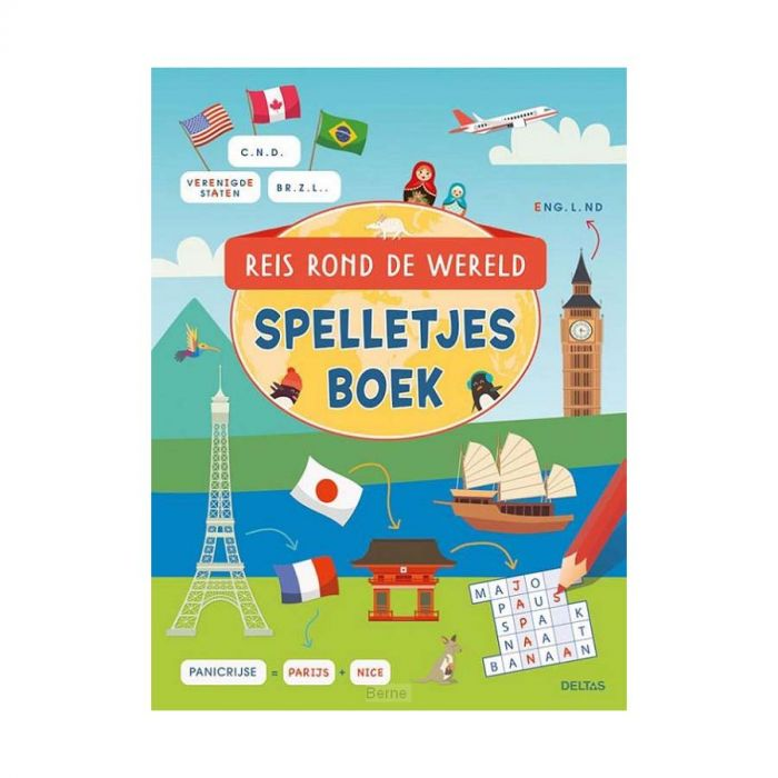 Boek Reis Rond De Wereld Spelletjesboek
